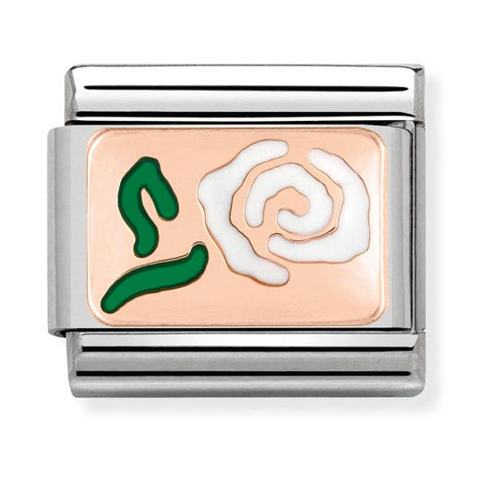 Nomination Enamel Rose Charm