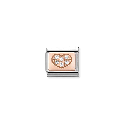 Nomination CZ Heart Charm