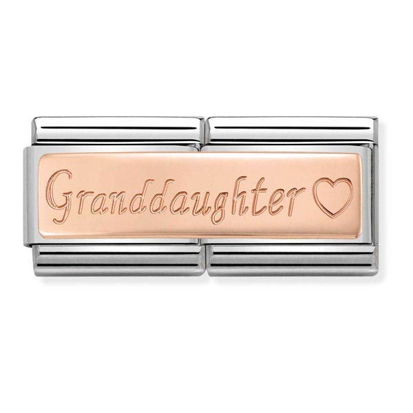 Nomination Double Length Granddaughter Charm