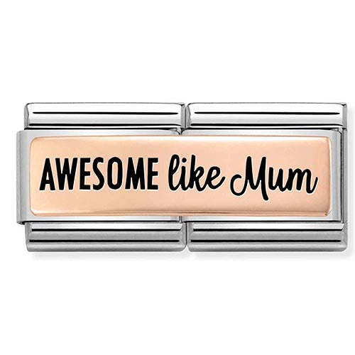 Nomination Limited Edition Awesome Like Mum Double Charm