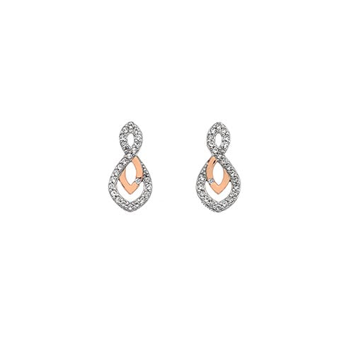 Hot Diamonds Two Colour Harmony Earrings
