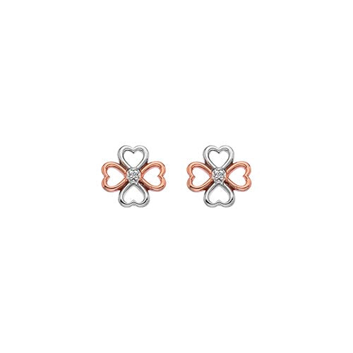 Hot Diamonds Two Colour Lucky In Love Earrings