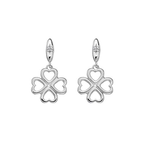 Hot Diamonds Lucky In Love Drop Earrings