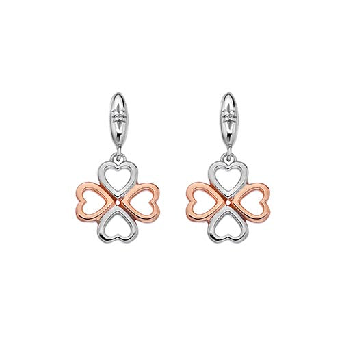 Hot Diamonds Two Colour Lucky In Love Drop Earrings