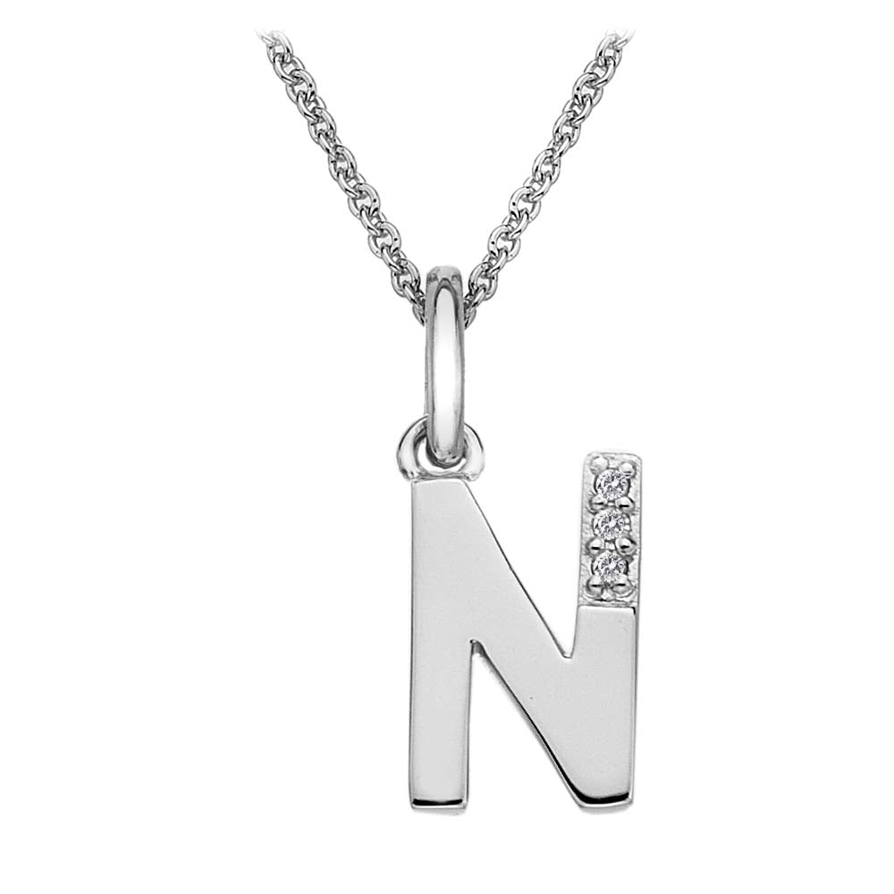 Hot Diamonds Letter N Pendant