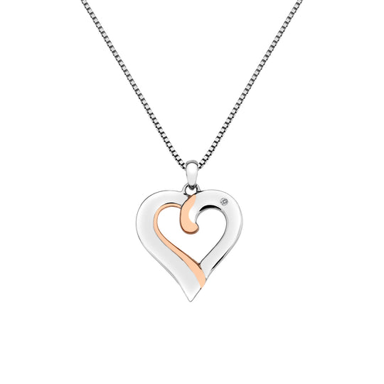 Hot Diamonds Together Heart Shaped Pendant