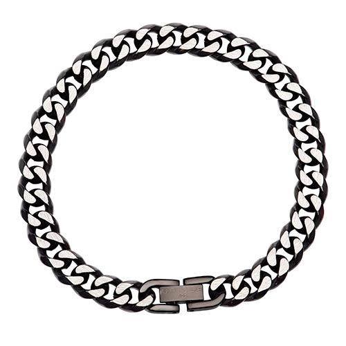 Stainless Steel Polished Black Gents Bracelet