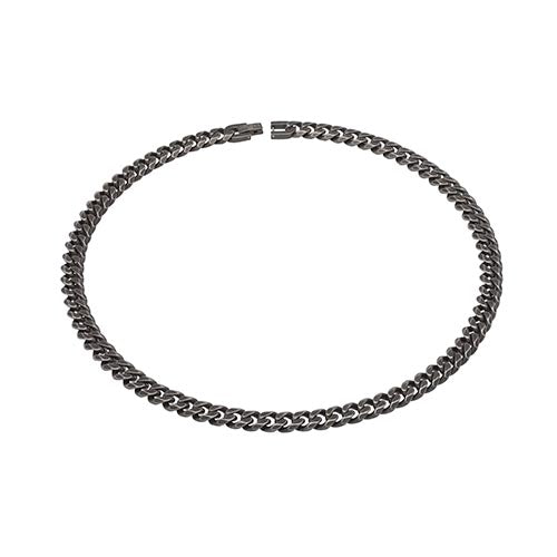 Stainless Steel Black Colour Gents Chain 50cm