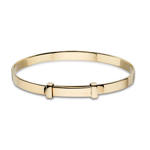Gold Plated Sterling Silver Baby Bangle