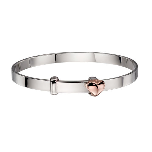 Heart Sterling Silver Baby Bangle