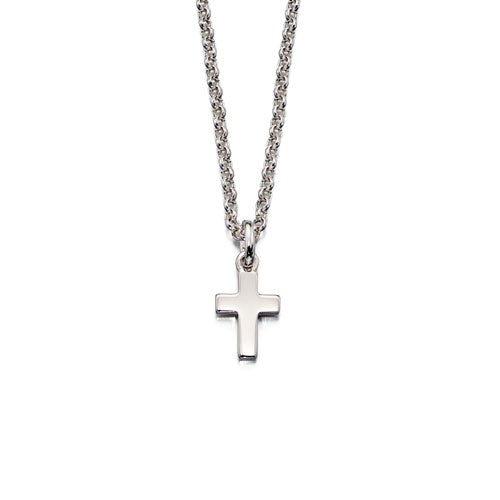 Kaia-Small Cross Pendant & Chain