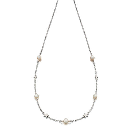 Tatiana-Freshwater Pearl & Star necklace