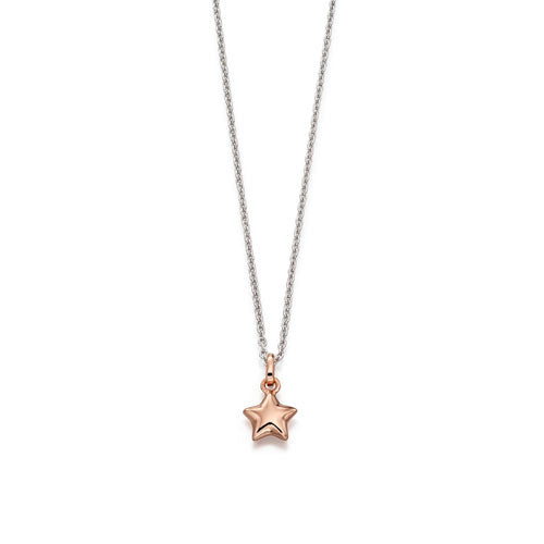 Harper-Rose Gold Plated Small Star Pendant & Chain