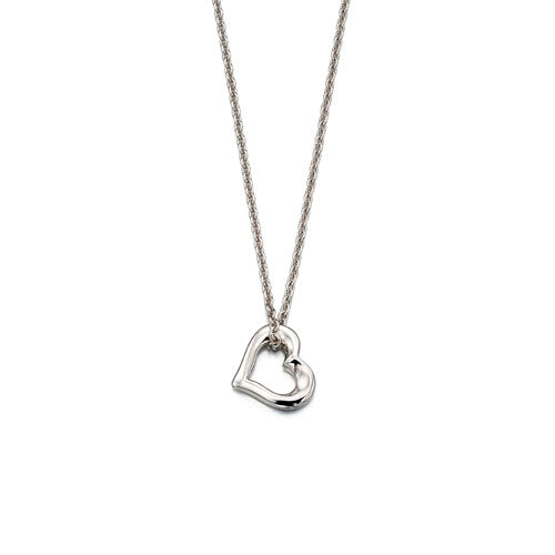 Lola-Small Open Heart Pendant & Chain