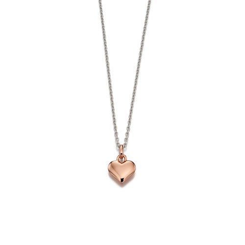 Skyler-Rose Gold Plated Small Open Heart Pendant & Chain