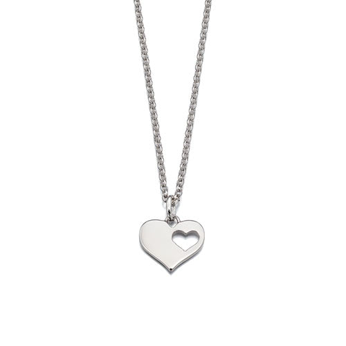 Hanneli-Adult Cut Out Heart Pendant & Chain
