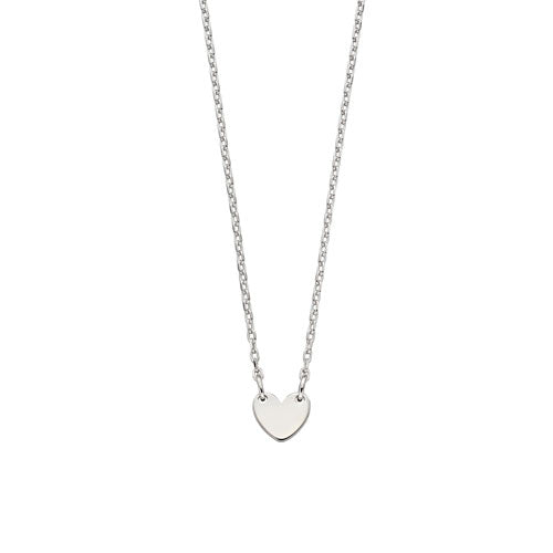 Lexi-Childs Heart Silver Necklace