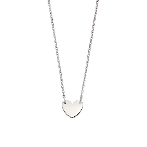 Matilda-Silver Heart Necklace For Adults