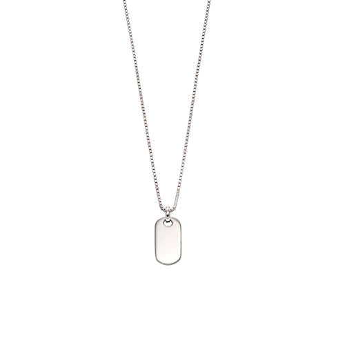 Oli-Silver boys Tag Necklace