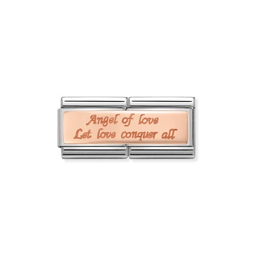 Nomination Double Length Angel Of Love Charm