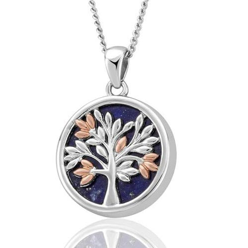 Silver & 9ct Gold Tree Of Life Clogau Pendant