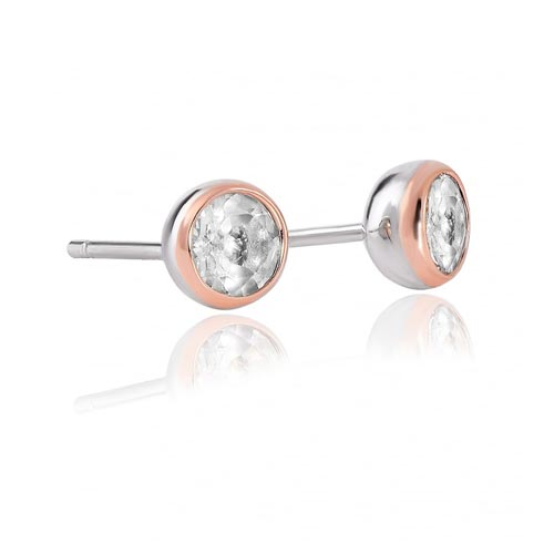 Silver & 9ct Gold Celebration Stud Earrings