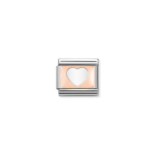 Nomination Enamel White Heart Charm