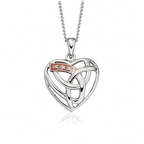 Silver & 9ct Gold Eternal Love Pendant