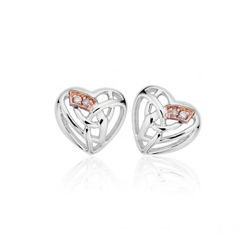 Silver & 9ct Gold Eternal Love Earrings
