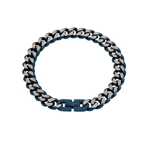 Stainless Steel Blue Gents Bracelet 21cm