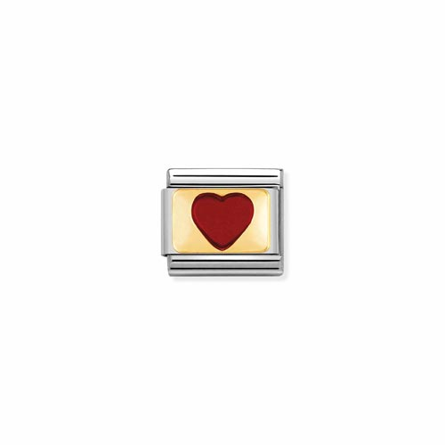 Nomination Red Enamel Heart Charm