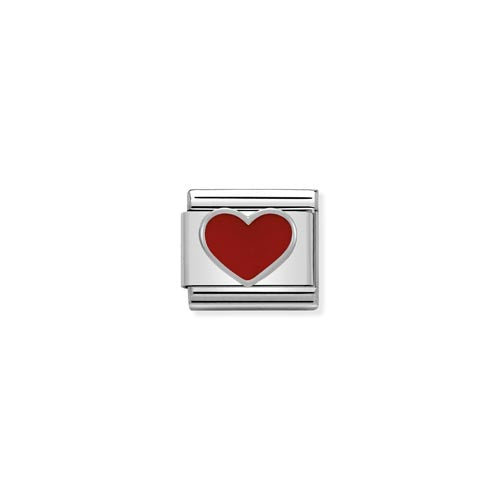 Nomination Raised Enamel Heart Charm
