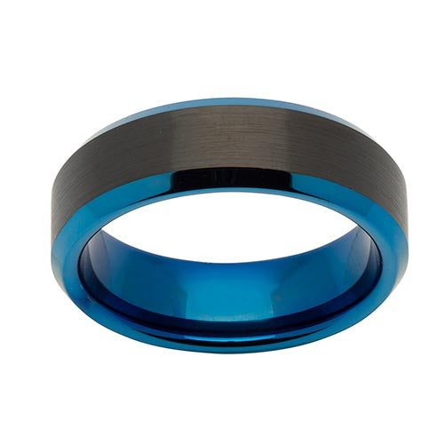 Tungsten Two Colour Band 7mm