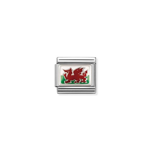 Nomination Welsh Flag Charm