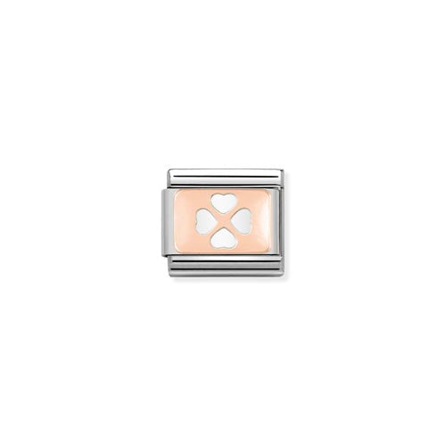 Nomination Enamel White Clover Charm