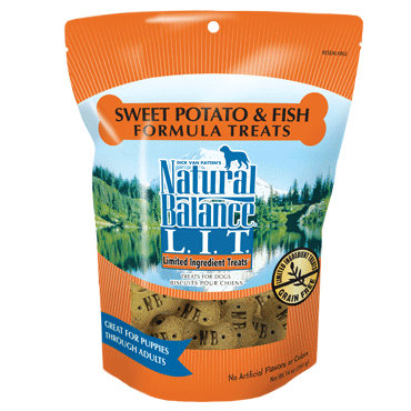 Natural Balance L.I.T. Limited Ingredient Sweet Potato and Fish Formula Treats for Dogs