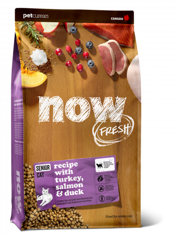 Petcurean Now! Fresh Grain Free Senior Recipe Dry Cat Food