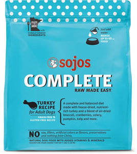 Sojos Complete Turkey Dog Food Mix