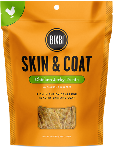 Bixbi Skin & Coat Chicken Breast Jerky Dog Treats