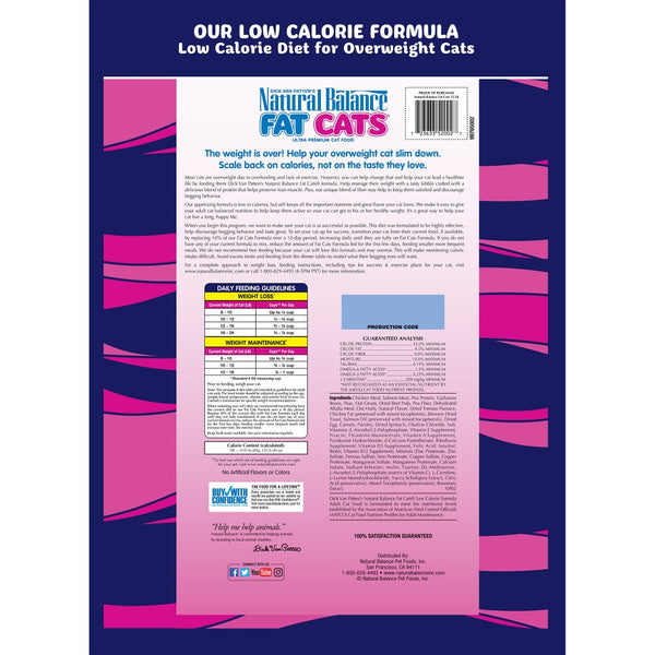Natural Balance Fat Cats Low Calorie Dry Cat Food