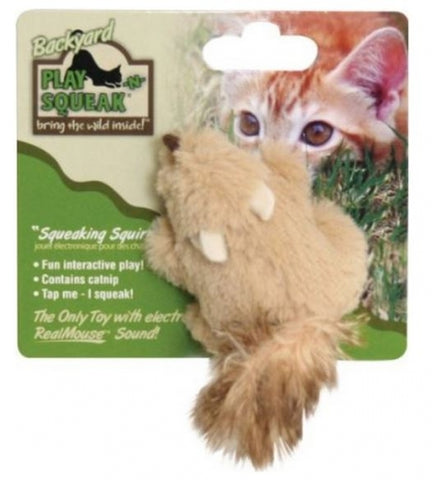 Cosmic Play and Squeak Backyard Animals Cat Toys