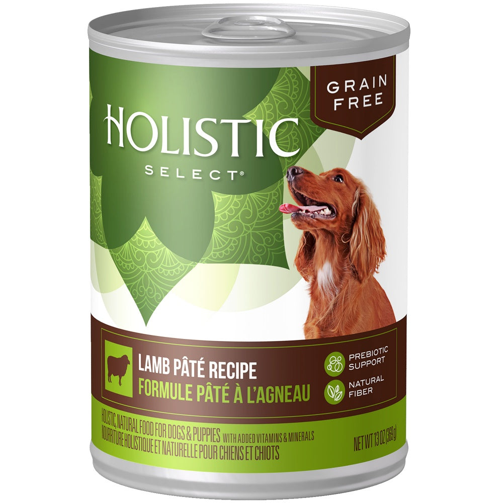 Holistic Select Natural Grain Free Lamb Pate Canned Dog Food