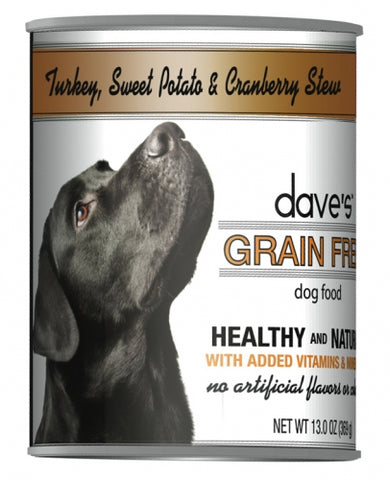 Dave's Grain Free Turkey Sweet Potato and Cranberry Canned Dog Food