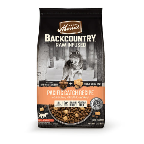 Merrick Backcountry Raw Infused Grain Free Pacific Catch Recipe Dry Dog Food