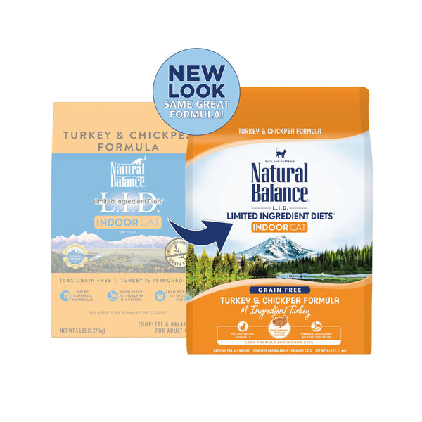 Natural Balance Limited Ingredient Diets Turkey & Chickpea Indoor Dry Cat Food