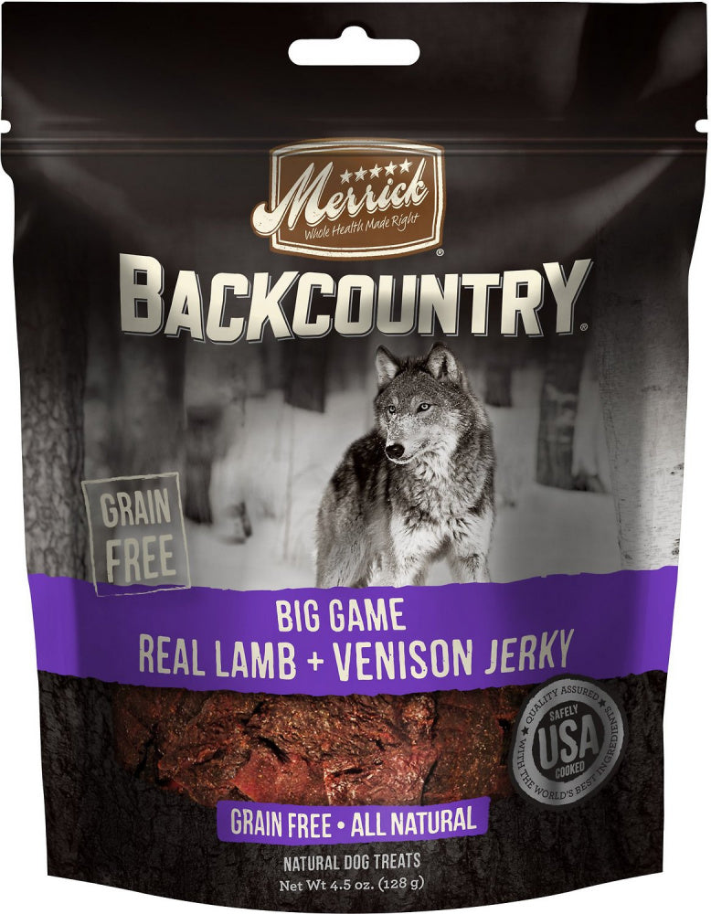 Merrick Backcountry Big Game Grain Free Real Lamb & Venison Jerky Dog Treats