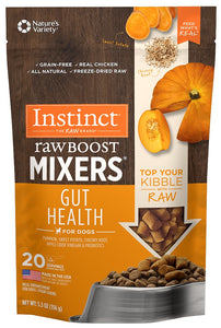 Instinct Grain Free Freeze Dried Raw Boost Mixers Gut Health Recipe Dog Food Topper