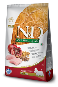 Farmina N&D Natural & Delicious Low Grain Mini Adult Chicken & Pomegranate Dry Dog Food