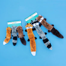 Load image into Gallery viewer, ZippyPaws Skinny Peltz Set of 3 No Stuffing Plush Dog Toys