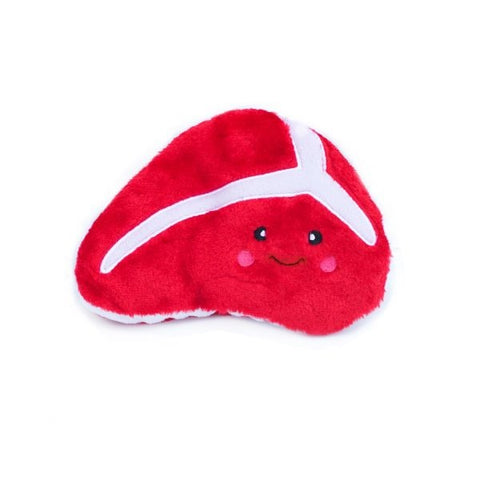 ZippyPaws NomNomz Plush Steak Dog Toy